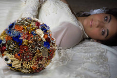 Fall in Love with Autumn Wedding Brooch Bouquet