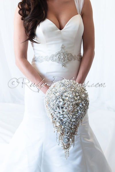 Wedding Mirror Cascade Bouquet