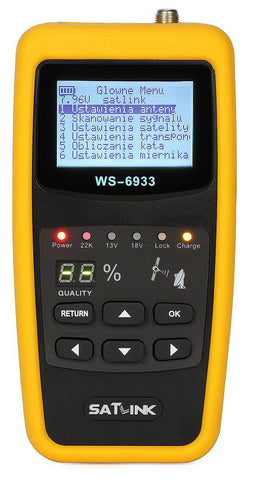 Satlink WS 6933 DVB-S/S2 FTA C & KU Band Digital Satellite Finder Meter