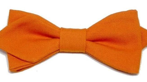 Noeud papillon orange Zig Zag - Effet Noeud Papillon