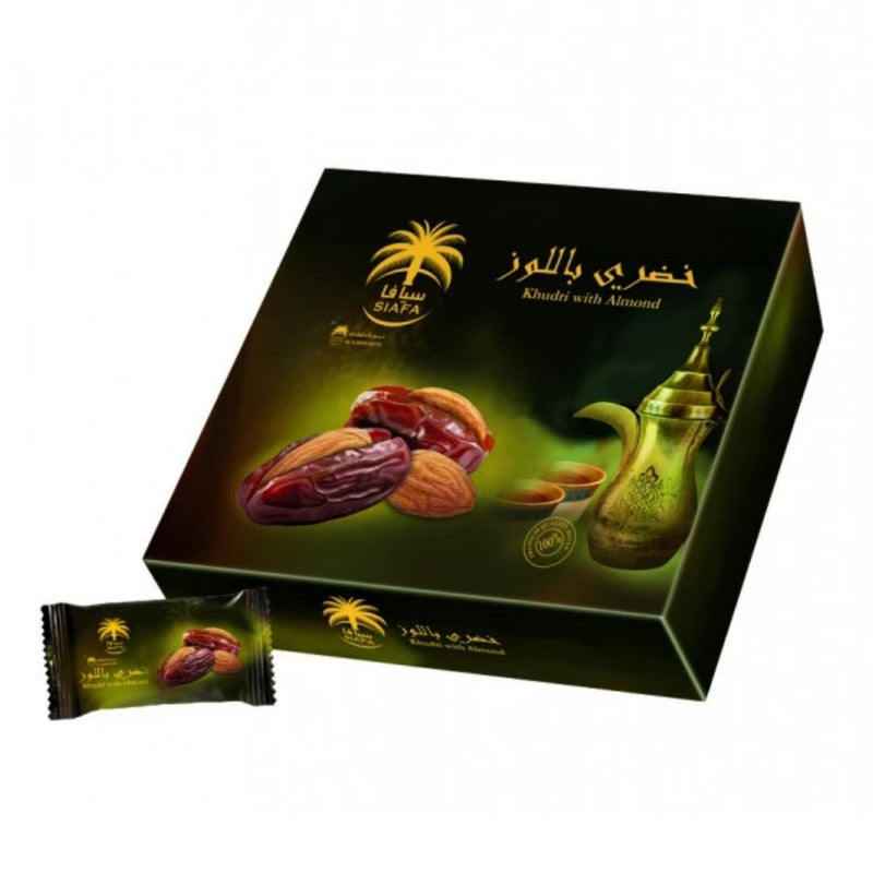 Siafa Khudry Dates with Almonds 300g Box Grade A Quality Khajoor - The Orient