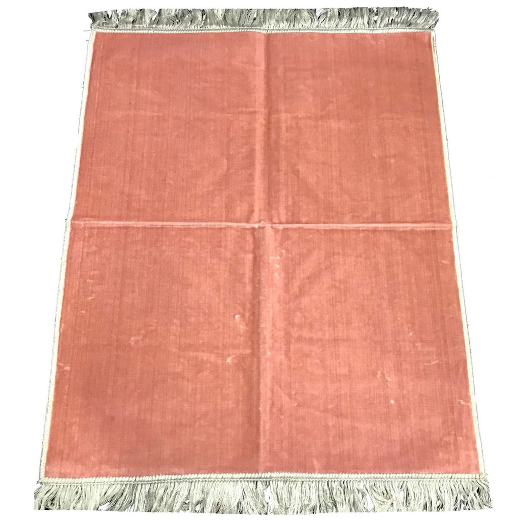 Plain Pray Mat High Quality from Madina Muslim Prayer Rug 110x70 Pink - The Orient