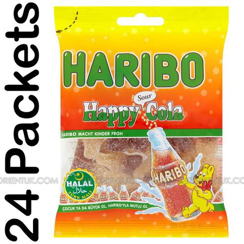 24x Haribo Happy Sour Cola Halal Sweets - The Orient