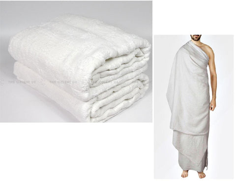 CLEARANCE Ihram Cloth Towel 100% Cotton Ehram Adult Size Luxury High Quality Ahram Hajj