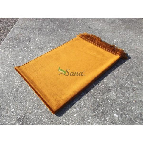 Plain Velvet Soft Pray Prayer Mat Namaz Salah Mat Hajj Umrah Ramadan 120x70 cm - The Orient