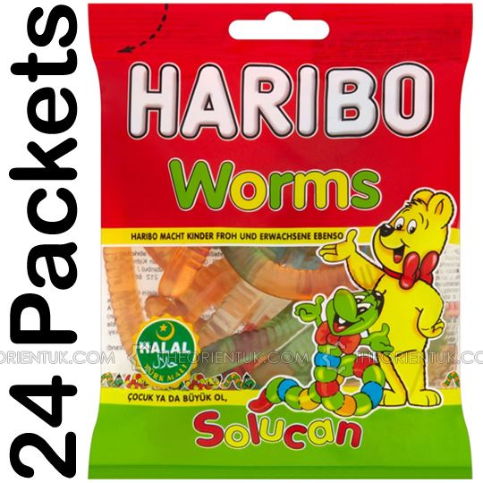 24x Haribo Worms Halal Sweets - The Orient