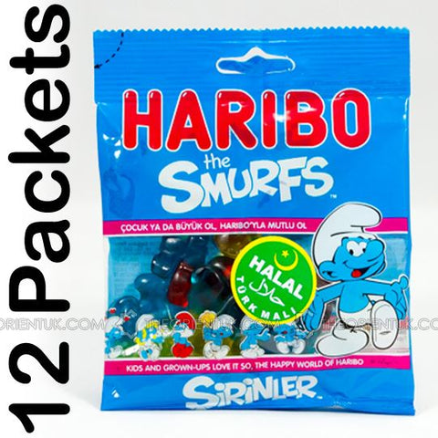 12x Haribo Smurfs Halal Sweets - The Orient