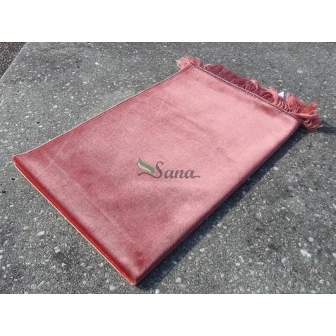 Plain Velvet Soft Pray Prayer Mat Namaz Salah Mat Hajj Umrah Ramadan 120x70 Green - The Orient