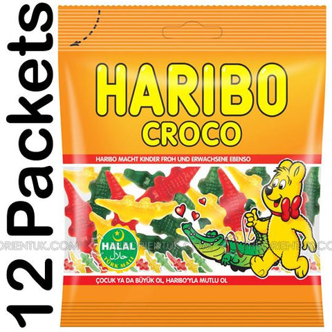 12x Haribo Croco Halal Sweets - The Orient