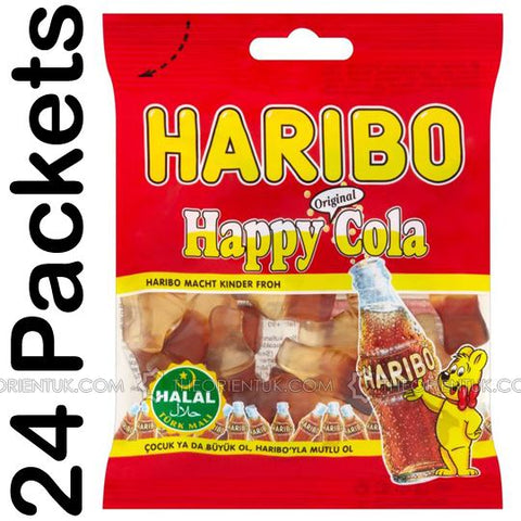 24x Haribo Happy Cola Halal Sweets - The Orient