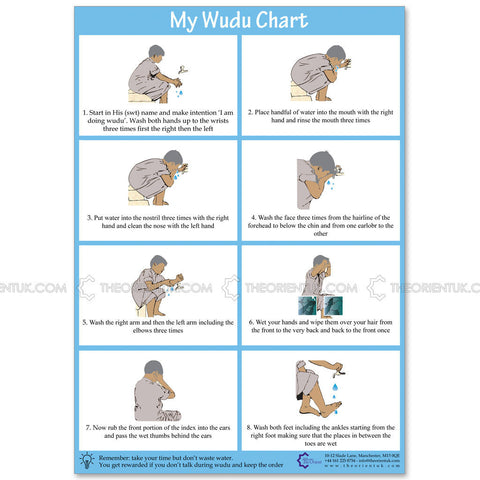 A5 Wudu Demonstration Poster - The Orient
