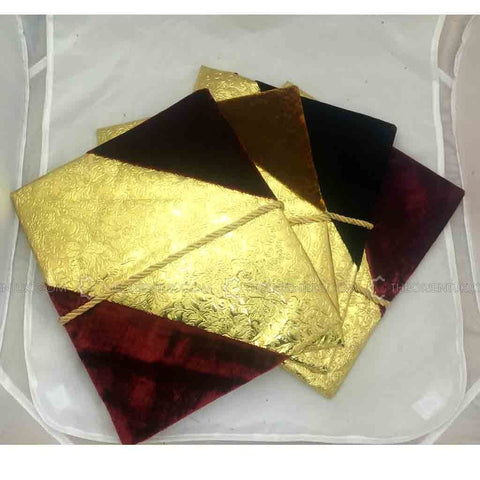 Velvet Quran Cover Gold Designed Gilaf Book Case 30 x 30 cm