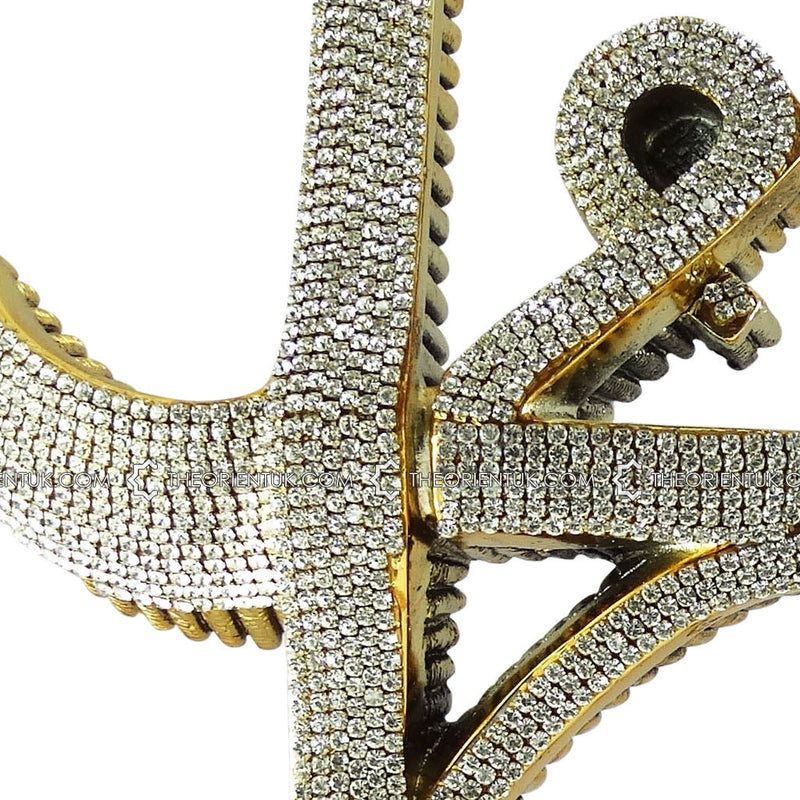 Allah Muhammad Name Gold Diamonds Crystals Ornament 17x32cm - The Orient