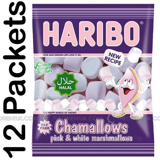 12x Haribo Marshmallows Halal Sweets - The Orient