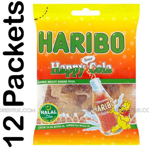 12x Haribo Happy Sour Cola Halal Sweets - The Orient
