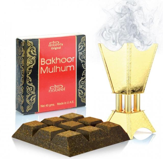 Nabeel Bakhoor Mulhum 40g Home Kitchen Mosque Fragrance Incense Essence Burner - The Orient