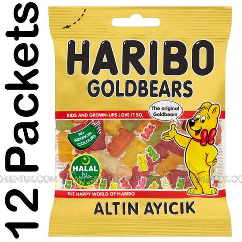 12x Haribo Gold Bears Halal Sweets - The Orient