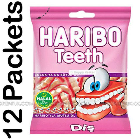 12x Haribo Teeth Halal Sweets - The Orient