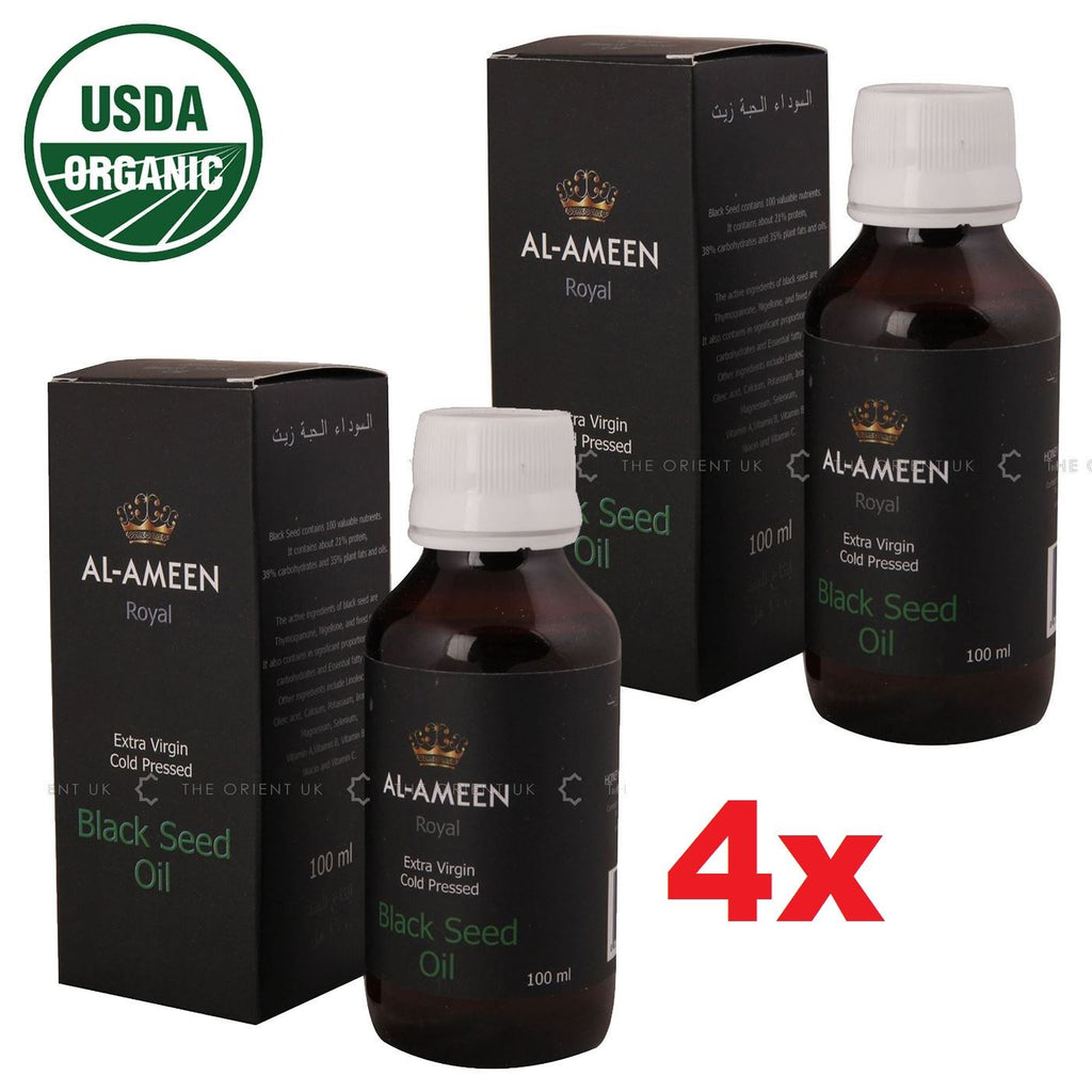 4x Certified Organic 100% Pure Extra Virgin COLD PRESSED BLACK SEED OIL - The Orient