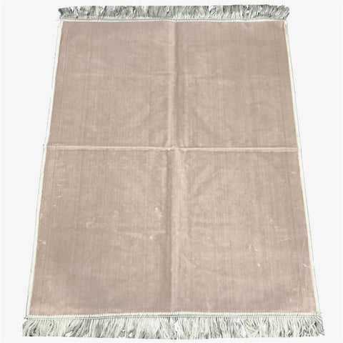 Plain Pray Mat High Quality from Madina Muslim Prayer Rug 110x70 White - The Orient
