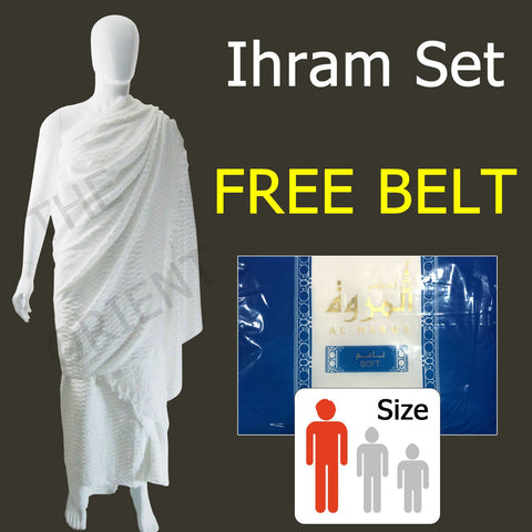 Ihram Al Marwa Blue + Belt - The Orient