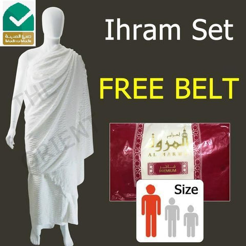 Ihram Al Marwa Red + Belt