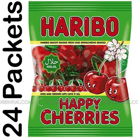 24x Haribo Happy Cherries Halal Sweets 80g - The Orient