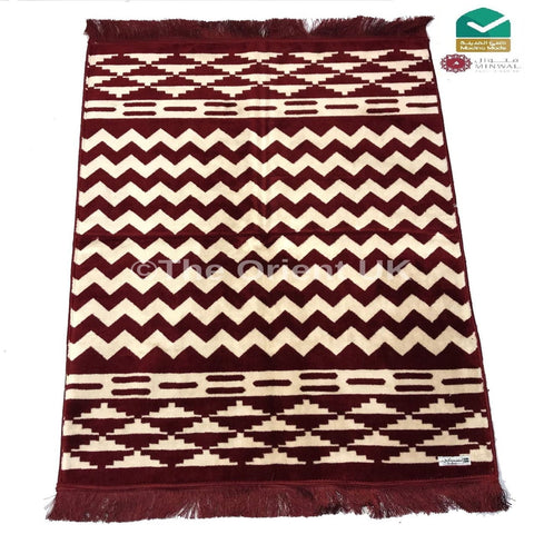 Pray Mat Prayer Salah Namaz Sijada Rug Carpet Madina Made Red Boxed