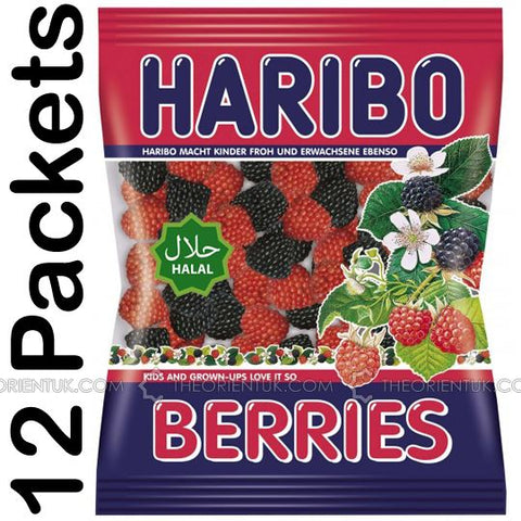12x Haribo Berries Halal Sweets - The Orient