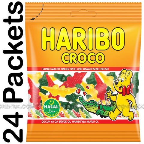 24x Haribo Croco Halal Sweets - The Orient