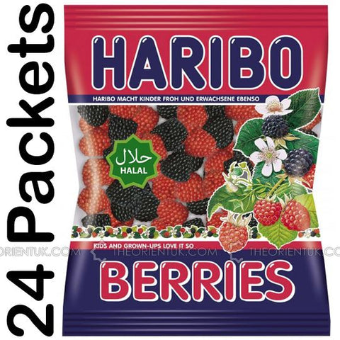 24x Haribo Berries Halal Sweets - The Orient