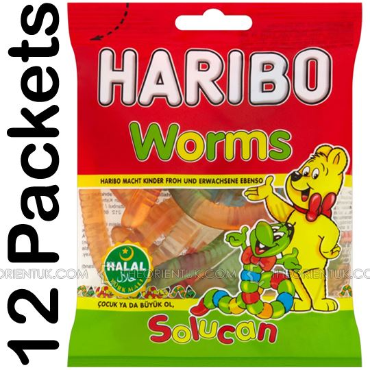 12x Haribo Worms Halal Sweets - The Orient