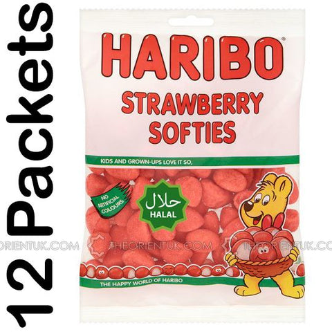 12x Haribo Strawberries Halal Sweets - The Orient
