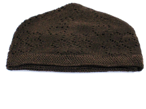 Men Skull Hat Dark Brown