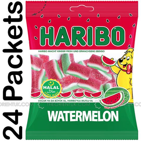 24x Haribo Watermelon Halal Sweets 80g Box of 24 Discount if You Buy +2 Boxes