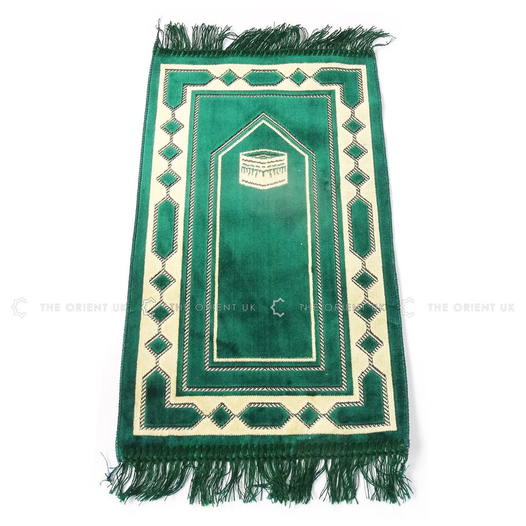 Kids Children Prayer Mat Small Islamic Pray Rug Namaz Carpet 60x35cm