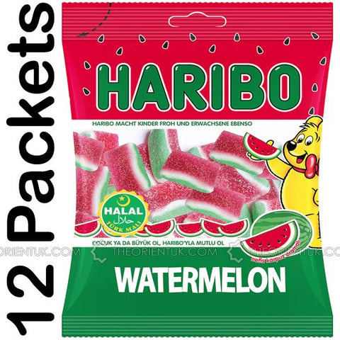 12x Haribo Watermelon Halal Sweets 80g Box of 12 Discount if you Buy +2 Boxes