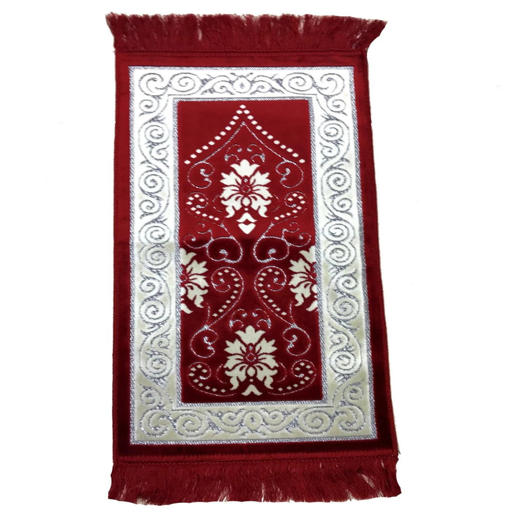 Small Kids Children Salah Prayer Pray Mat Eid Ramadan Islamic Gift Red - The Orient