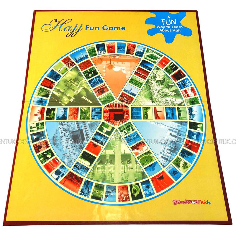 Hajj Fun Board Game Children Islamic Educational Challenge Toy Family Eid Gift