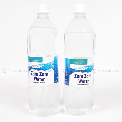 2x 1L Zamzam Water from Makkah Curative Nutrient 100% Quality Natural Treatment - The Orient