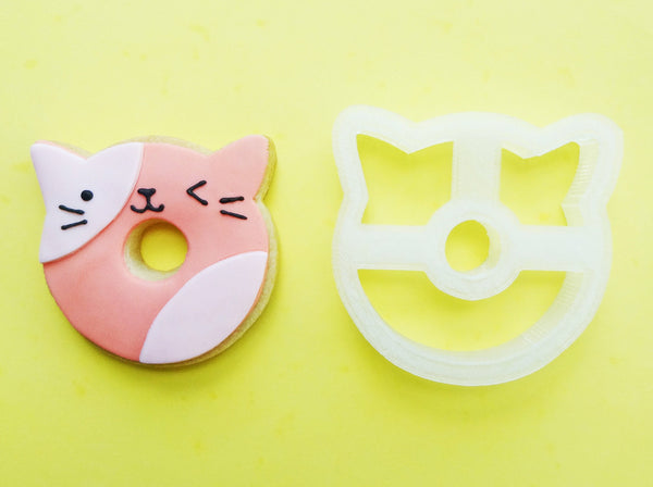 @vickiee_yo Cat Donut Cookie Cutter