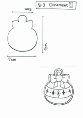 Y&Csweets (Yohko) Bulb Ornament Cookie Cutter