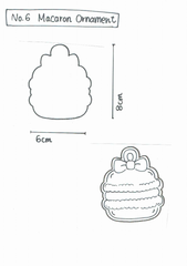 Y&Csweets (Yohko) Macaroon Ornament Cookie Cutter