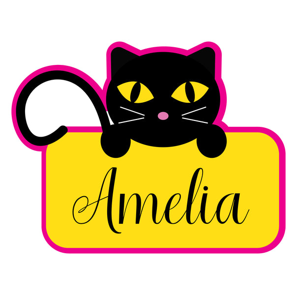 Cat Holding Name Cookie Cutter