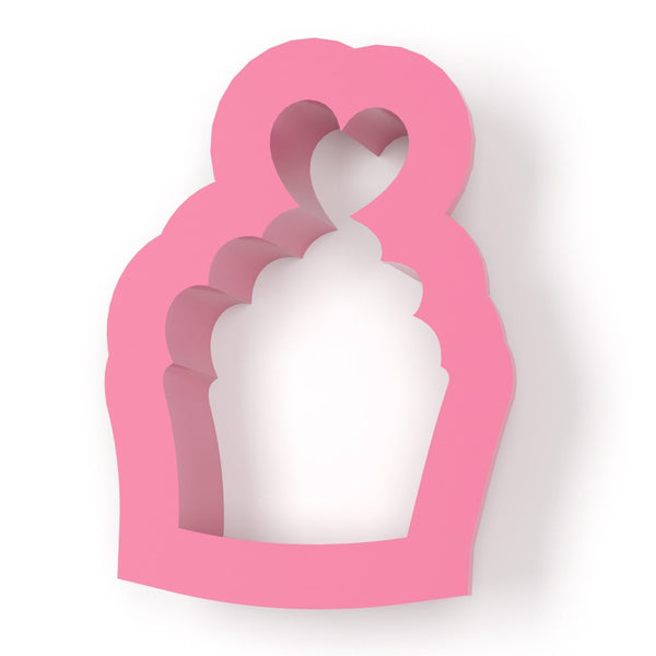 Cupcake With Heart Cookie Cutter