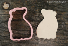Cute Sitting Polar Bear Cookie Cutter