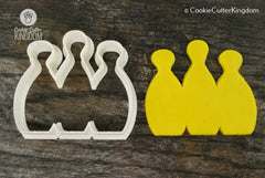 Bowling Pins Cookie Cutter