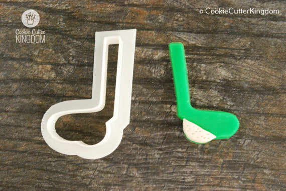 Golf Club with Ball Cookie Cutter