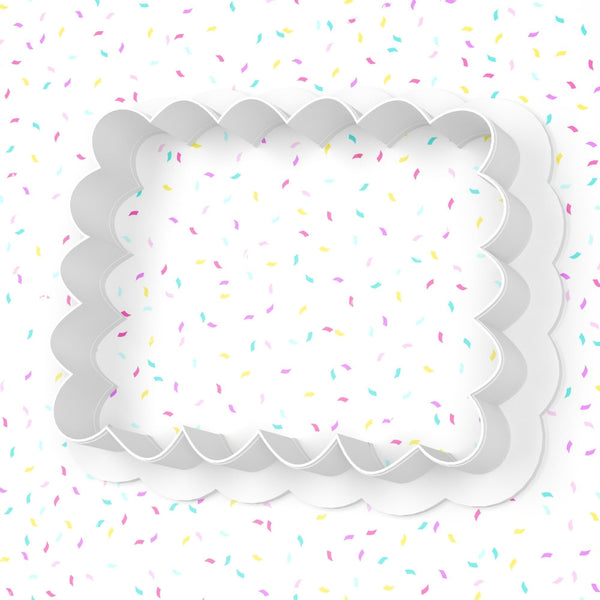Scalloped Rectangle Plaque Cookie Cutter