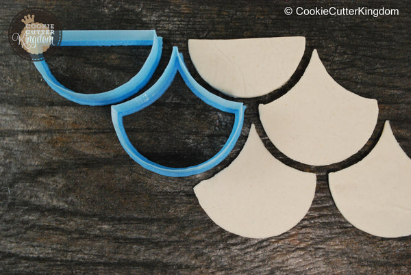 Set of Scale Pattern Cookie Cutters